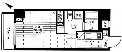 ステージファースト東大前 1K 25.74㎡ 【東大前駅】